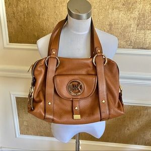 Michael Kors pebbled leather double handle bag
